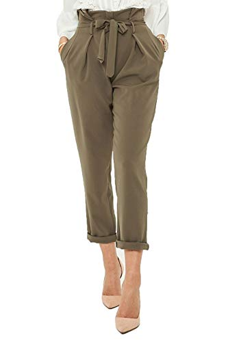 color 21fashion mujeres negras Un caqui tama las Pantalones de o de IwqCEzqT