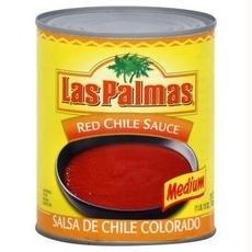 Las Palmas B02856 Las Palmas Medium Red Chili Sauce -6x19oz Las Palmas Chili Sauce