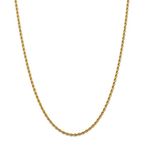 Top 10 Jewelry Gift 14k 2.75mm Diamond-cut Rope with Lobster Clasp Chain by Jewelry Brothers Necklaces (Image #1)