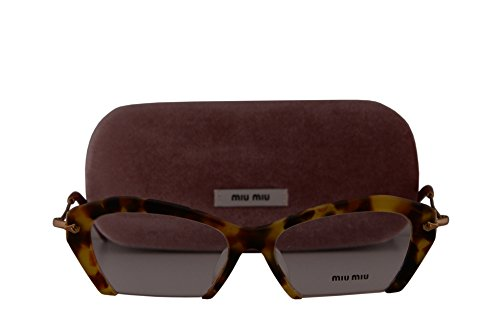 Miu Miu MU03OVA Eyeglasses 53-17-140 Sand Medium Havana w/Demo Clear Lens UA51O1 MU 03OV VMU03OV VMU - Miu Reading Glasses Miu