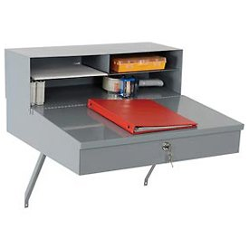 Wall Mounted Receiving Desk, 24''W x 22''D x 12''H, Gray by Global Industrial