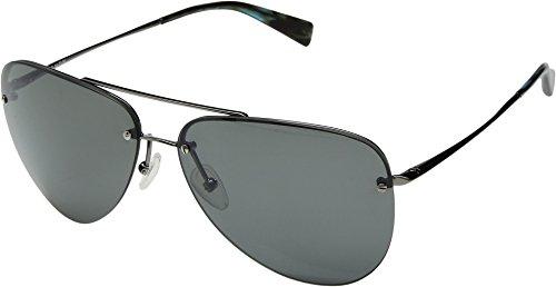 Kaenon Adult Mather Polarized Sunglasses, Gunmetal/Blue Tortoise/Grey 12, One Size Fits All