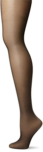 CK Women's Shimmer Sheer Pantyhose with Control Top, Black, Size A