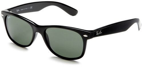 a87f4be74f1 Ray-Ban RB2132 New Wayfarer Sunglasses (Black Frame G-15-XLT Lens ...