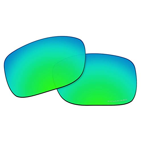 OOWLIT Replacement Lenses Compatible with Oakley TwoFace Sunglass Emerald Combine8 ()