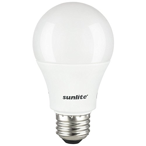 Sunlite A19/LED/10W/50K/220V LED A19 Household 10W (60W Equivalent) Medium (E27) Base Light Bulb, 5000K, Super White (2 Pack)