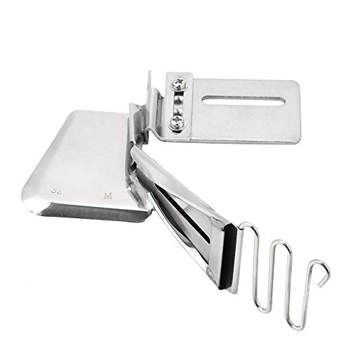 (Akozon Sewing Machine Binder, Industrial Sewing Machine Accessory Overlock Binder Hemmer Binding Attachment Folder)