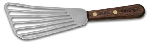 Dexter-Russell Walnut Slotted Fish Turner, 6.5-Inch, Stainless Steel