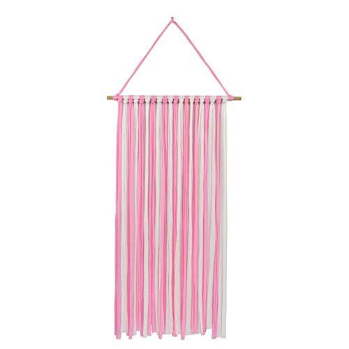 SuperiMan Hair Clips Holder,Fringe Hair Bows Headband Holder Storage Organizer Hanger for Girls (White&Pink)]()