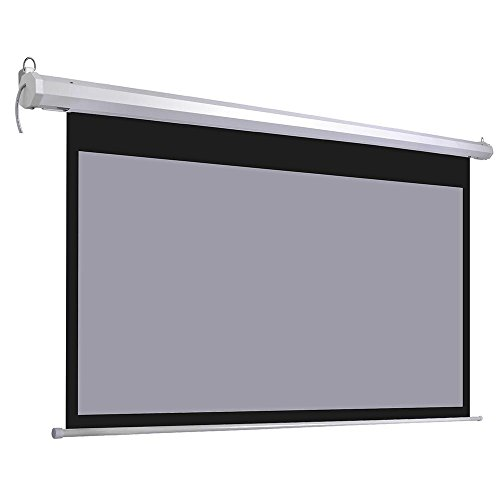 """Yescom 100"""" 16:9 Electric Motorized Projector Screen Auto with Remote Control Matte Gray Classroom Meeting Room"""
