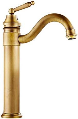 ヴィンテージ温水と冷水の蛇口、ブラッシュすべての銅、家庭のキッチンのシンクの蛇口、鉛フリーおよびアンチ腐食、キッチンに適した、ダイニングルーム、バー、バスルーム