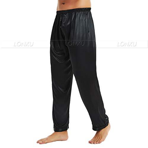 Da ~ Pantaloni Pigiama Grigio S 4xl Salotto Bottom Sonno Seta Di Uomo Splento SUqGLVMpz