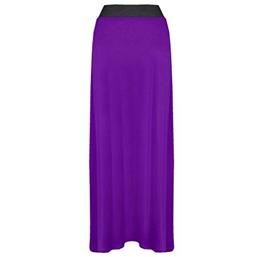 Grandes Jupe Xpose Extensible Tailles Jersey Gypsy Femme Longue Violet g6p7RU