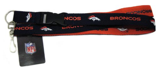 Pro Specialties Group NFL Denver Broncos Two Tone Lanyard, Navy/Orange, One Size
