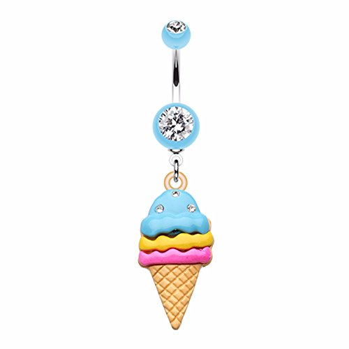 ice cream belly button rings - 7