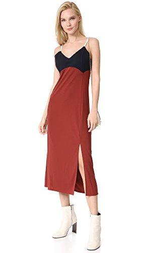 Neck White Dress V Women's Classic Slip DKNY Oxide Navy qvg64wU