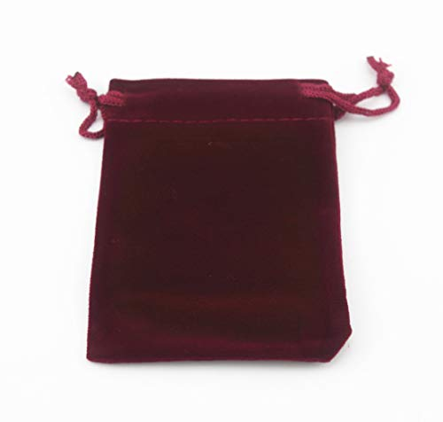 (Pack of 25 Velvet Gift Bags Drawstring Jewelry Pouches Candy Bags Wedding Favors (3.6