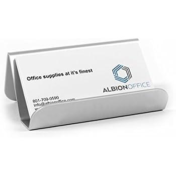 Amazon nipole modern business card display holder desktop aluminum business card holder colourmoves