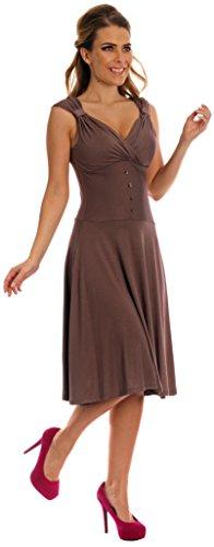 Glamour Empire. Femme. La robe avec sa forme de coeur et sa ligne évasée. 166 (Cappuccino, 38/40)