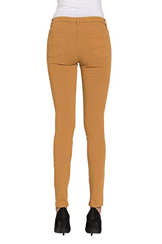 Extensible Color Jeggings Liso S Es Mujer Para Jeans Carrera Tejido IZxF60Zq