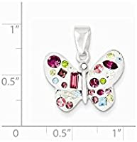 Sterling Silver Multi-Stellux Crystal White Pendant