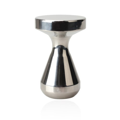 Whitelotous 51mm Silver Espresso Coffee Tamper, Stainless Steel, Flat Base