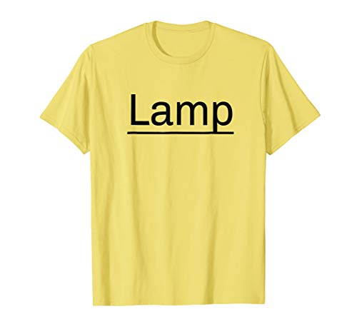 Lamp T-Shirt Funny Sarcastic Moth Lamp Halloween Costumes
