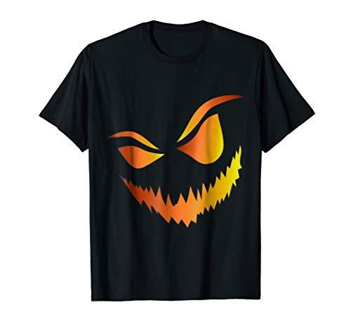 Halloween Pumpkin Face Creepy Scary Jack-O-Lantern T Shirt