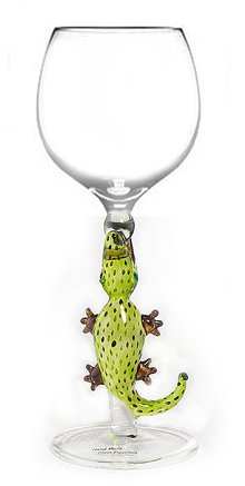 Wine Glass by Yurana Designs Hand Blown Alligator - W143