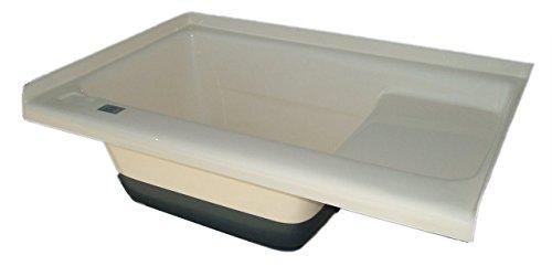 ICON Sit in Step Tub Left Hand Drain TU500LH, Polar White