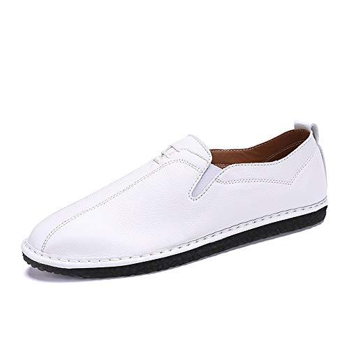 casual Pedale Bianca 42 Leather Color Dimensione Oxford Shoes uomo Ofgcfbvxd Bianca Traspirante piatto da EU Soft A Slip On Scarpe Lofer qRPwwUnxF6
