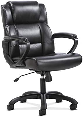 HON BSXVST305 Sadie Leather Executive Computer/Office Arms-Ergonomic Swivel Chair HVST305