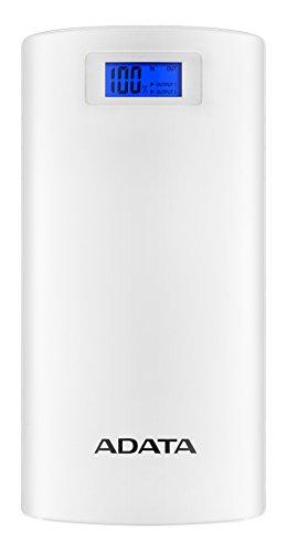ADATA AP20000D-DGT-5V-CWH Batería Recargable, 2 x USB 2.0, 20000 mAh, Color Blanco