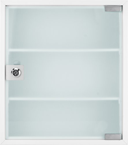 Winbest Large Wall Mount Steel Medical Medicine Storage Cabinet with Glass Door by Winbest