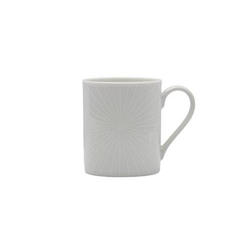 Mikasa Cheers White Radial Mug, 12-Ounce