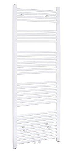 Badheizkörper 500x1500 mm Gerade Weiß Mittelanschluss R18 - Größe 500x1500