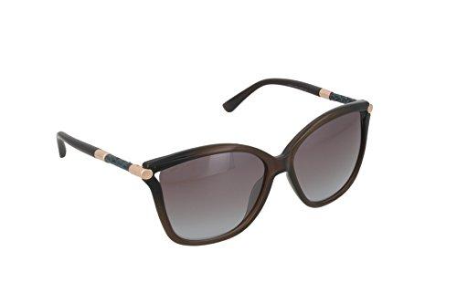 Jimmy Choo Women's Tatti/S Transparent Brown/Brown Blue - Jimmy Choo Sunglasses Blue