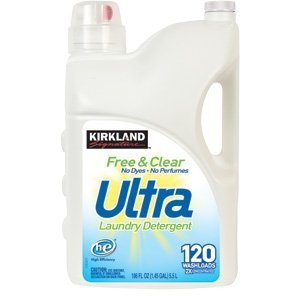 Kirkland Signature Free and Clear 2X Concentrate Ultra Clean Premium Laundry Detergent ()