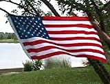 Polyester American Flag, 3 Foot X 5 Foot, Hang or Fly