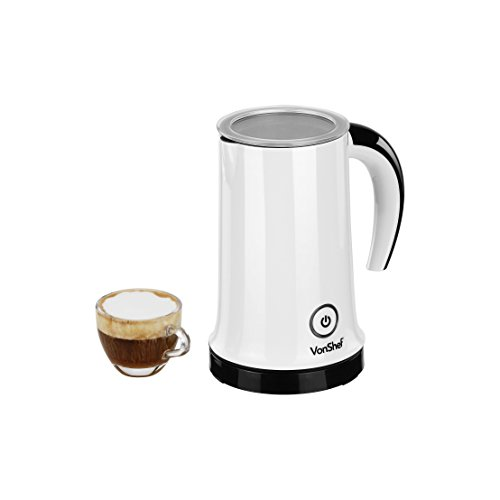 VonShef Automatic Electric Milk Frother and Heater Carafe