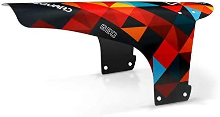 Garde-Boue Avant pour VTT RideGuard PF1 Enduro Guard Fender UK Geo Orange