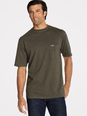 Pendleton Men's Short-Sleeve Deschutes Pocket T-Shirt, Yakima Green Heather-63919, LG (Heather Yakima)