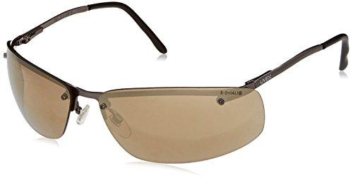 Uvex S4112 Slate Safety Eyewear, Matte Gunmetal Frame, Gold Mirror Hardcoat - Safety Sunglasses Uvex