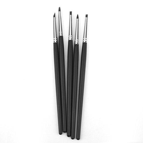 5Pcs Flexible Silikonpinsel Gummi-Pinsel Fimo Clay Shaper Modellierwerkzeug