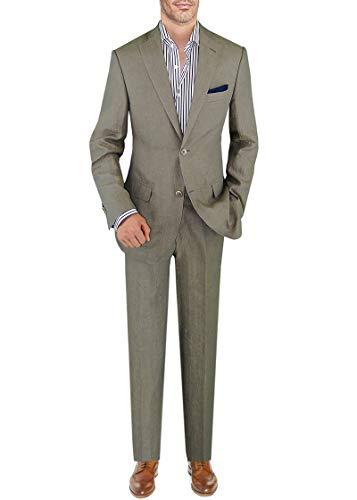 Wool 2 Button Italian Suit - DTI BB Signature Italian Men's