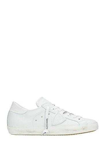 Philippe Model Hombre CLLUVE51 Blanco Cuero Zapatillas