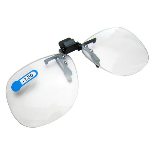 Daiso Japan Optical Clip-on Flip-up Magnifying Reading Glasses +1.50 Diopter