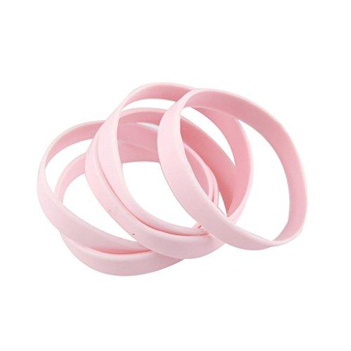 green-house-5pcs-blank-wristband-pink-fashion-sports-silicone-wristband-braceletsshiped-from-us