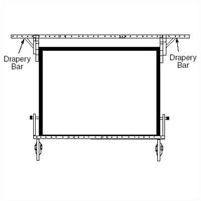 "Drapery Bars for Dress Kit Size: NTSC - 150"" Diag."