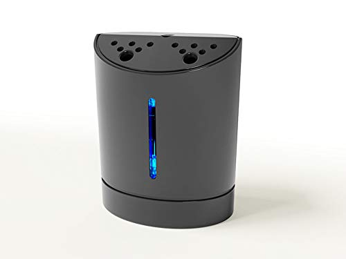BigWhite Mini Portable USB Rechargeable Personal Air Purifiers, Ionic Air Purifiers,Necklace Wearable Ionizer Electronic Mask, Smell Eliminator Remove Smoke and Bad Odors (60×48×32.7mm, Black)